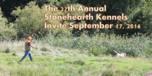 Stonehearth Invite 2016 for area hunters and their gun dogs